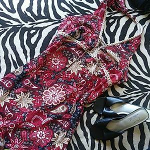 Floral/Pasley Halter Dress
